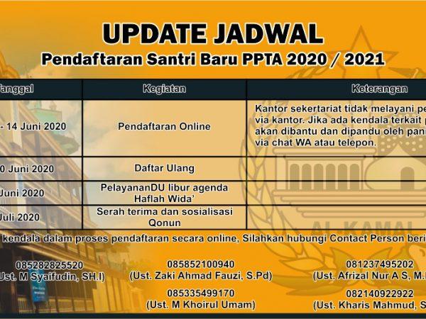 Perubahan Jadwal Daftar Ulang PSB 2020/2021